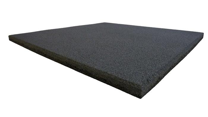 ErgoTile QUAD 500x500x10 mm gummifliser, C1 - grå