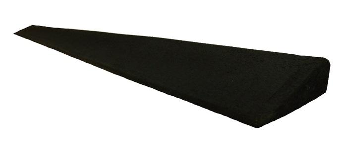 Gummirampe 15x80x1000 mm. for Quad gummifliser, Sort